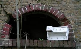 Brocant plankje met laatjes (130112)..verkocht