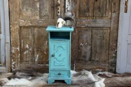 Geleefd turquoise kastje (131361) verkocht