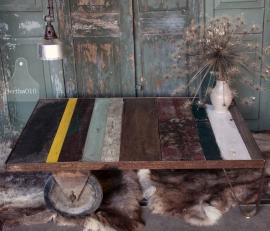Grote trolly met  blad van 100% echt sloophout (131478)  verkocht