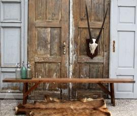 Oude houten bijzetbank (131338)..verkocht