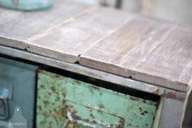 Stellingkast met oud houten bovenkant (131785)