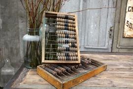 Antiek houten telraam (131782/131783) verkocht