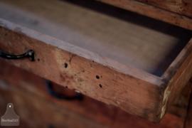 Antieke houten schoolkast, 26 lades (137139)