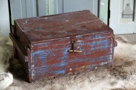 Oud geleefde kist (131130)..verkocht