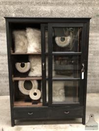 Oude Engelse vitrinekast (144503)