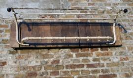 Industriele kapstok oud hout (130402)..verkocht