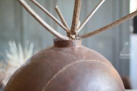 Grote geleefde vaas van ijzer (134144)..verkocht