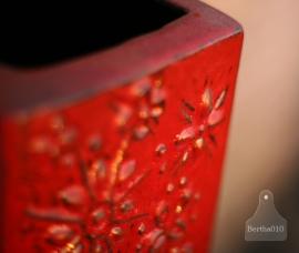 Vintage vaas, rood (130338)