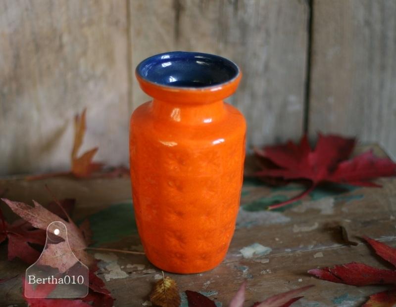 Vintage vaas oranje (130084)