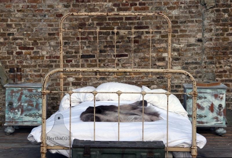 Antiek Frans gietijzeren bed (130263)..verkocht