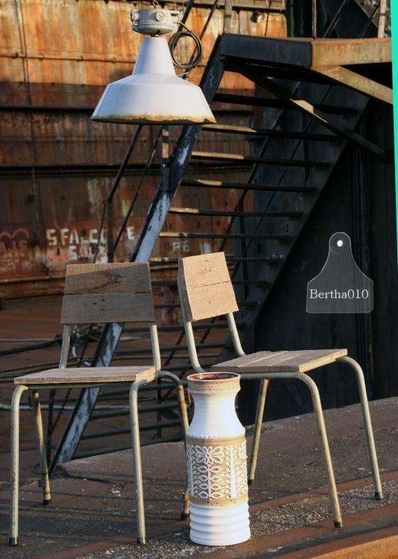 Geleefde industriele hanglamp (130391)..verkocht