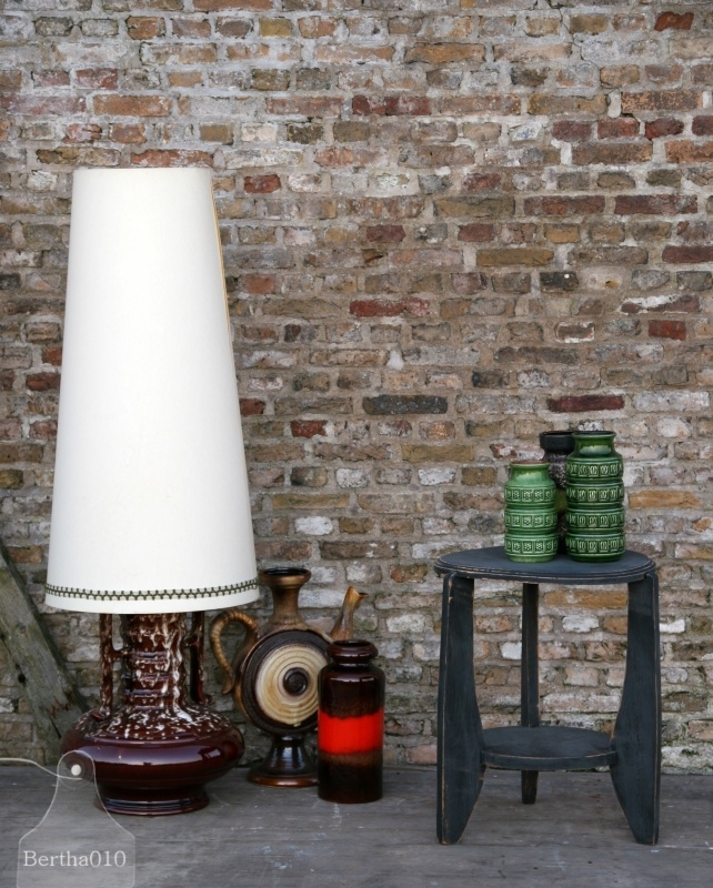Vintage staande lamp (130313)..verkocht