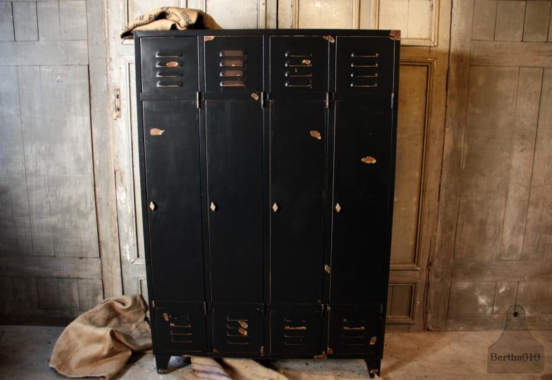 3, 4 of 5 deurs locker, zwart (132480)