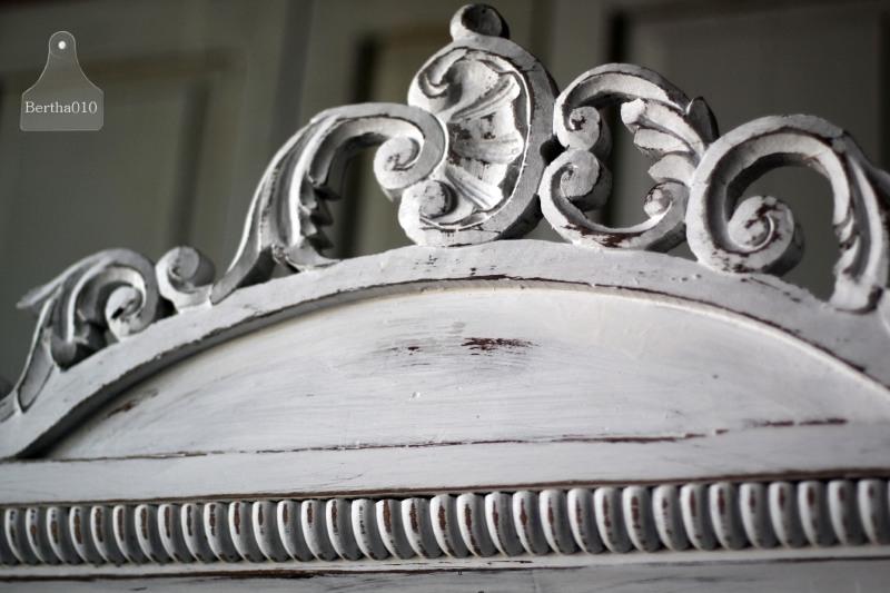 Antieke Landelijke Biedermeier Kast Met Kuif 131183