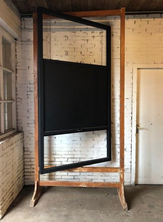 Antiek schoolbord hoog (137428)