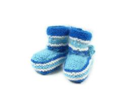 Geitenwollen sokken maat 0-1 jaar
