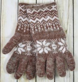 Geitenwollen handschoenen maat S