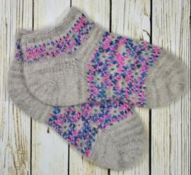 Korte schapenwollen sokken maat 37-38