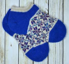 Korte schapenwollen sokken maat 39-40