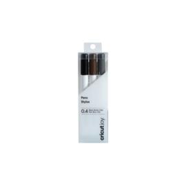 Pennen zwart/bruin/grijs