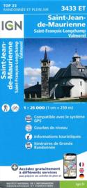 Wandelkaart St.Jean-de-Maurienne, Valmorel, Col de la Madeleine, la Chambre | NP De La Vanoise |  IGN 3433 ET - IGN 3433ET | ISBN 9782758540038