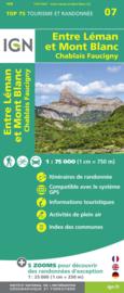 Wandelkaart - Fietskaart Entre Léman et Mont Blanc | IGN TOP 75 nr. 7 | ISBN 9782758544708