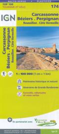 Wegenkaart - fietskaart Carcassonne - Beziers - Pyreneeën | IGN 174 | ISBN 9782758540908