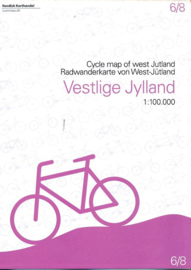 Fietskaart West Jutland | Scanmaps nr. 6 | 1:100.000 | ISBN 9788779671072
