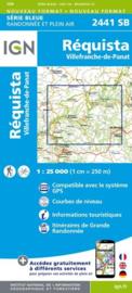 Topo-, wandelkaart Réquista / Villefranche-de-Panat |  IGN 2441SB | ISBN 9782758533306