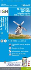 Wandelkaart La Tranche-sur-Mer & LAiguillon-sur-Mer | Franse Atlantische Kust | IGN 1328OT - IGN 1328 OT | ISBN 9782758545217
