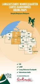 Wandelkaart Oost-Vlaanderen & Henegouwen | Alta Via 2 GR | 1:85.000 | ISBN 9789082844351