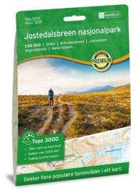 Wandelkaart Jostedalsbreen 3009 | Nordeca | 1:100.000 | ISBN 7046660030097