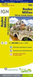 Wegenkaart - fietskaart Rodez - Mende - Millau | Midi Pyrenees / Cevennen | IGN 162 | ISBN 9782758543824