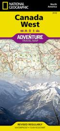 Wegenkaart Canada West | National Geographic | 1: 2,1 miljoen | ISBN 9781566956352