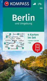 Wandelkaart Kompass 700 Berlin und Umgebung | 1:50.000 / ISBN 9783991212928
