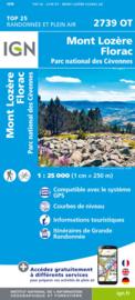 Wandelkaart Mont-Lozère, Le Pont-de-Montvert, Villefort, le Bleymard, PN des Cevennes | Cevennen | IGN 2739OT -IGN 2739 OT | ISBN 9782758543107