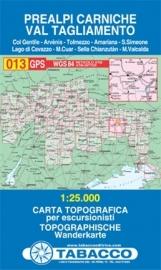 Wandelkaart Prealpi Carniche - Val Tagliamento | Tabacco 13 | 1:25.000 | ISBN 9788883150135