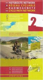 Sportoena fietskaart 2 Zeeuws Vlaanderen Fietsroute Netwerk | 9789078976240