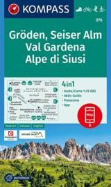 Wandelkaart Gröden-Seiser Alm | Kompass 076 | 1:25.000 | ISBN 9783990444610