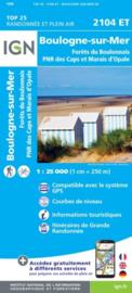Wandelkaart Boulogne-Sur-Mer Forets Du Boulonnai | Pays de Calais | IGN 2104 ET – IGN 2104ET