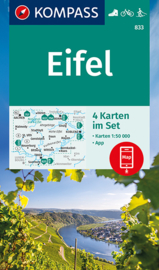 Wandelkaart Eifel - 4-delige set   Kompass 833   1:50.000   ISBN 9783991212287