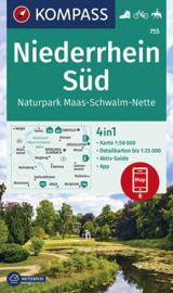 Wandelkaart Niederrhein Süd / Naturpark Maas-Schwalm-Nette | Kompass 755 | 1:50.000 | ISBN 9783990446140