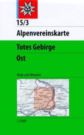 Wandelkaart Totes Gebirge Ost 15/3 | OAV | 1:25.000 | ISBN 9783928777339