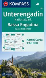 Wandelkaart Unterengadin - Bassa Engadina | Kompass 98 | 1:40.000 | ISBN 9783991211044