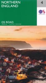 Wegenkaart Noord Engeland | Ordnance Survey road map 4 | 1:250.000 | ISBN 9780319263761