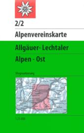 Wandelkaart Allgäuer - Lechtaler Alpen, Ost 2/2 | OAV | 1:25.000 | ISBN 9783928777148