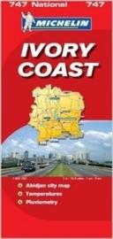 Wegenkaart Ivoorkust | Michelin | 1:800.000 | ISBN 9782067119123