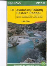 Wandelkaart Oostelijke Rodopen - Eastern Rodopi | Geopsis 131 | 1:40.000 | ISBN 9789609960243