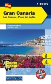 Wandelkaart Gran Canaria | Kümmerley & Frey | 1:50.000 | ISBN 9783259007341
