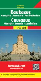 Wegenkaart Kaukasus, Georgie, Armenie, Azerbeidzjan | Freytag & Berndt | 1:700.000 | ISBN 9783707909739